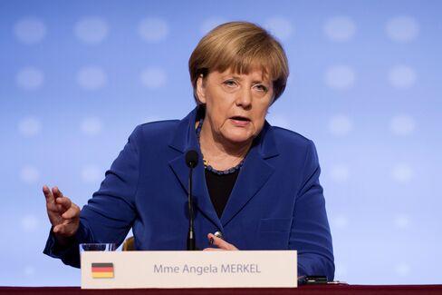 President Francois Hollande Meets Germany's Chancellor Angela Merkel, Russian President Vladimir Putin And Ukraine's President Petro Poroshenko