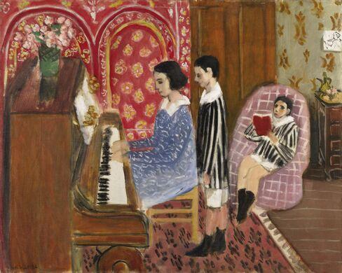 Henri Matisse, La Leçon de Piano, 1923