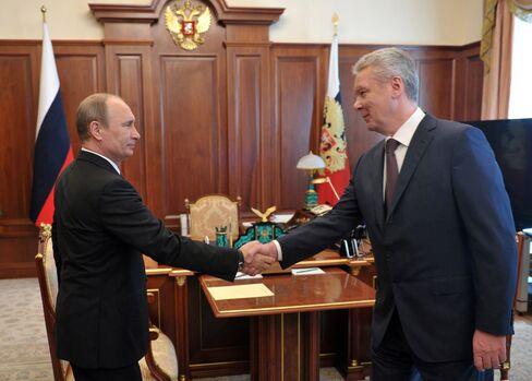Russian President Vladimir Putin & Moscow Mayor Sergei Sobyanin