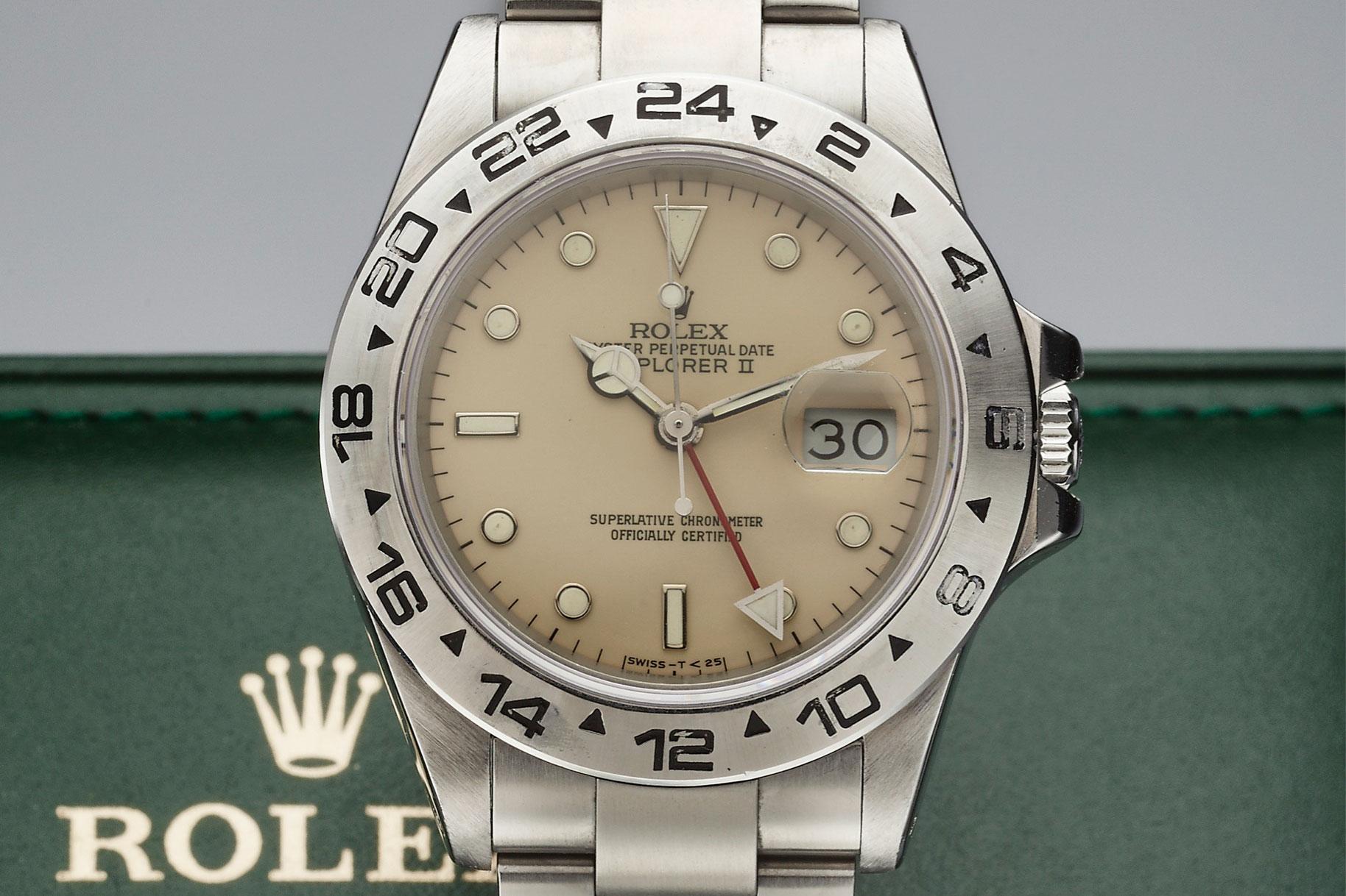 Rolex Creme Dial Explorer II (Lot 167)