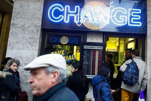A bureau de change in Geneva.