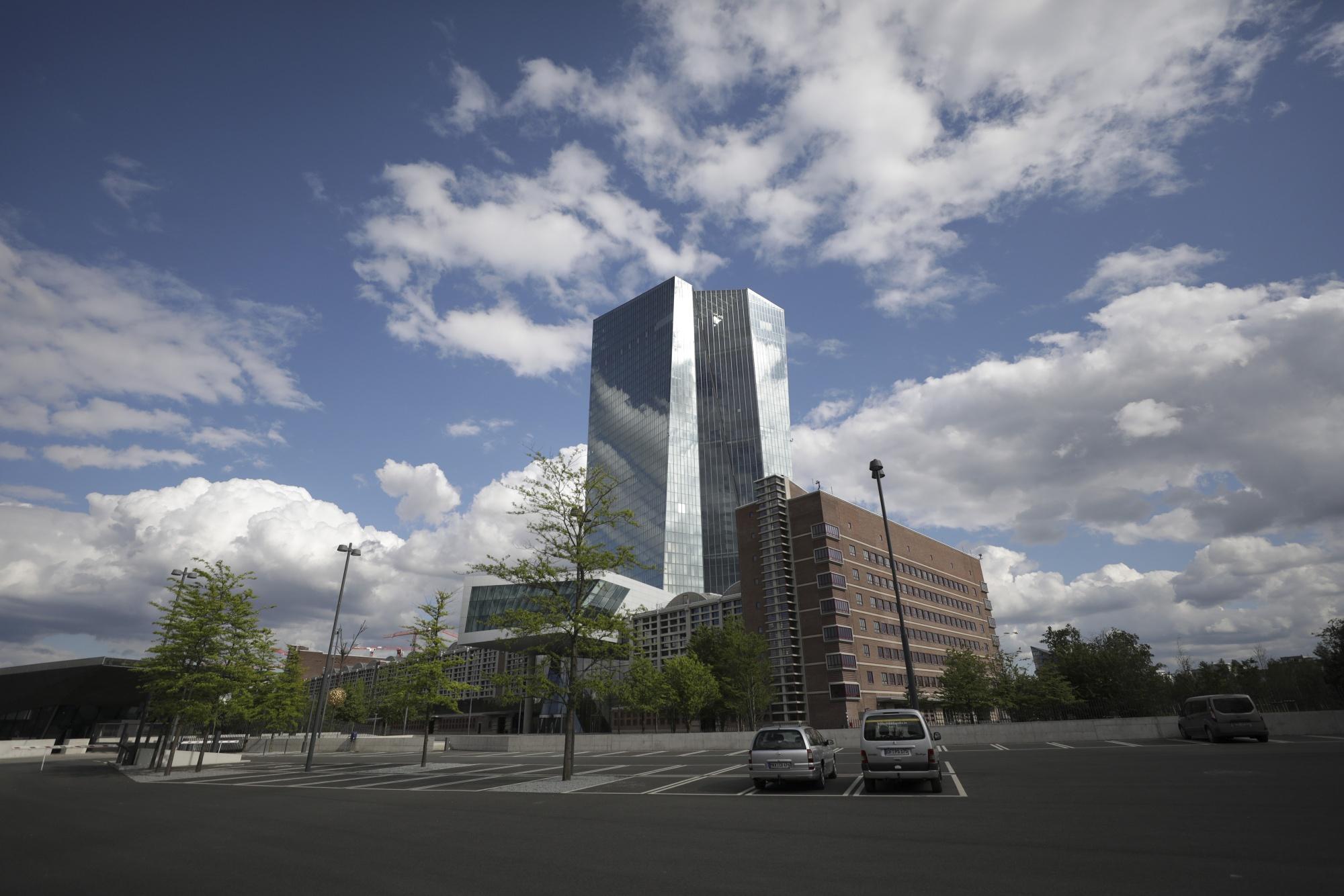 TheEuropean Central Bankheadquarters in Frankfurt.