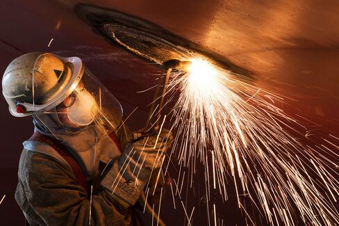 Operations at the Hyundai Heavy Industries Co. Shipyard