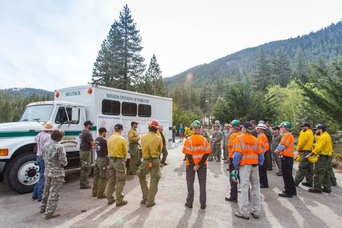 The fire drill, put on by the North Lake Tahoe Fire District, started at 7:35 a.m. More than 22 different agencies, including the National Guard, the Forest Service, the Washoe County Sheriff's Office, and Animal Services, were in attendance.