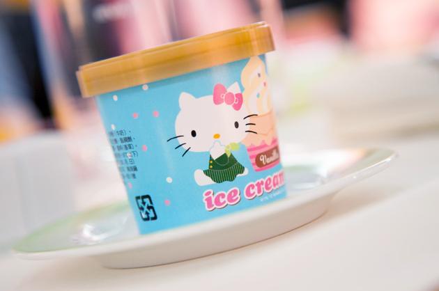 Hello Kitty ice cream