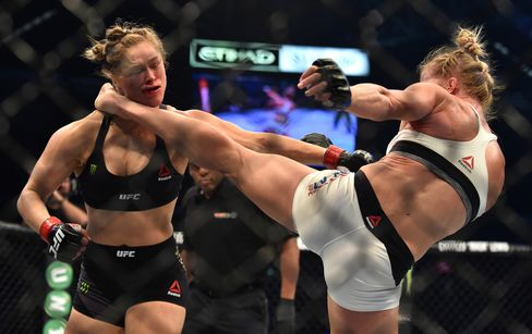 Holly Holm knocks out Ronda Rousey on Nov. 15.
