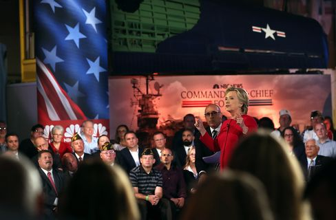 Hillary Clinton at the NBC News Commander-in-Chief Forum on Sept. 7.
