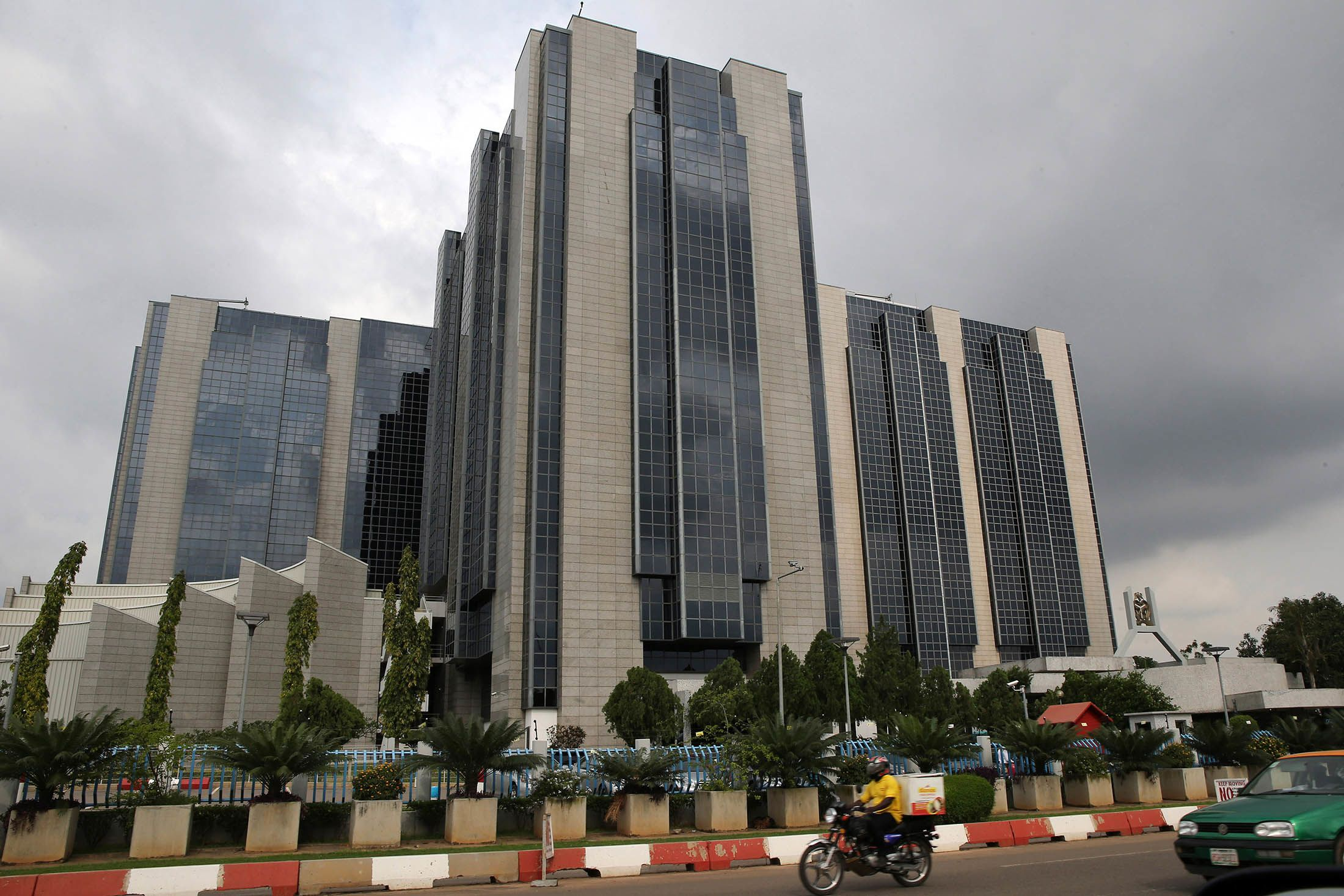 The headquarters of the Nigerian central bank in Abuja, Nigeria.
