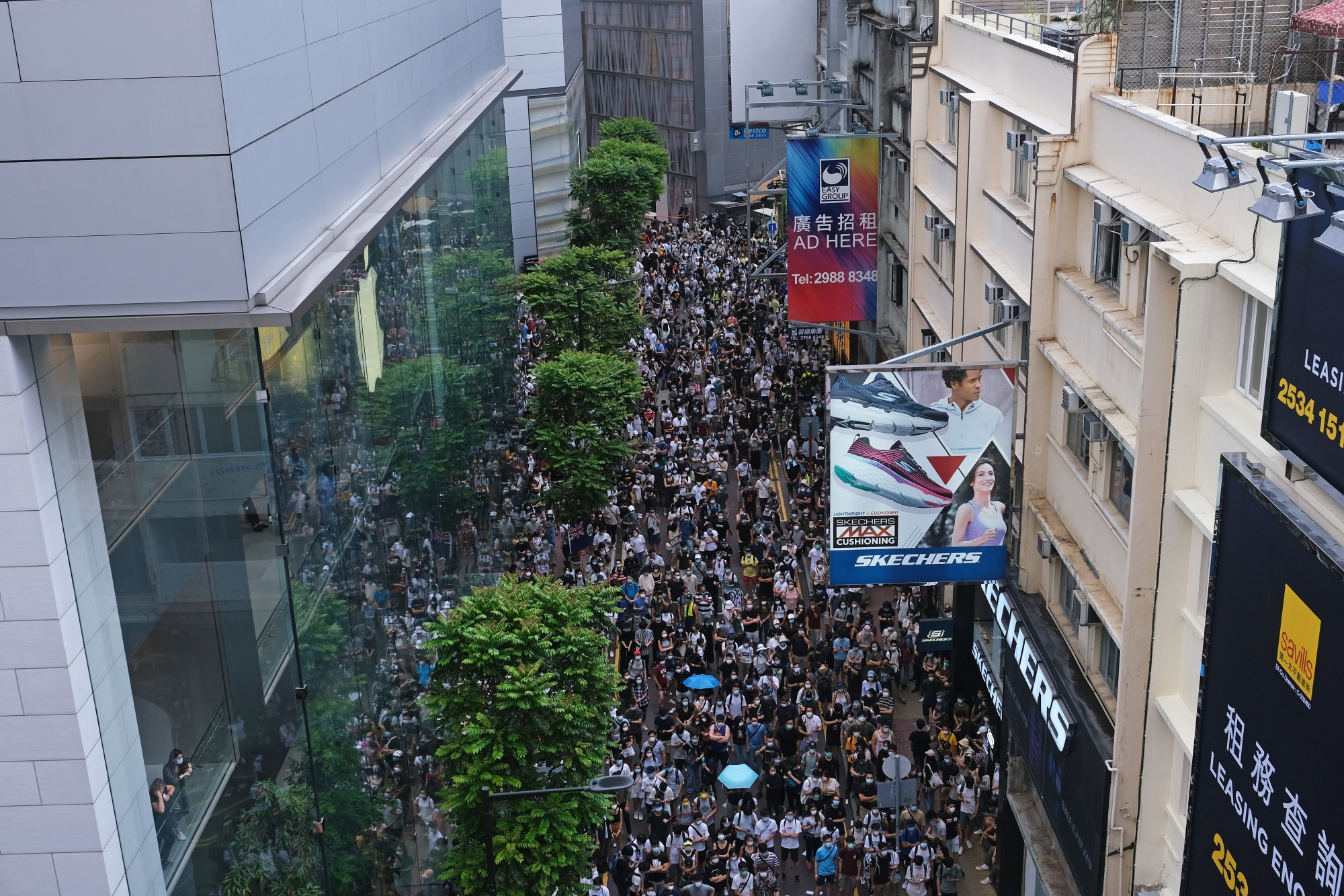 Protests on the Anniversary of Hong Kong's Handover to China amid New Security Law