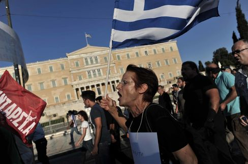 Since 2009, anti-austerity protesters have gathered frequently outside the Hellenic Parliament in Syntagma Square.