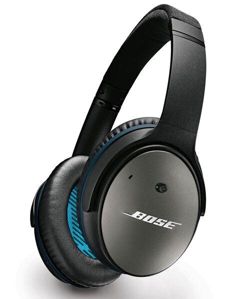 A pair of Bose QuietComfort headphones.