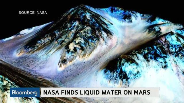 NASA Detects Liquid Water on Mars - Bloomberg