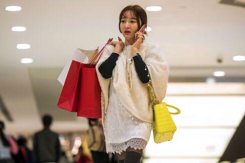 Shoppers In Tsim Sha Tsui Ahead Of Holiday Season