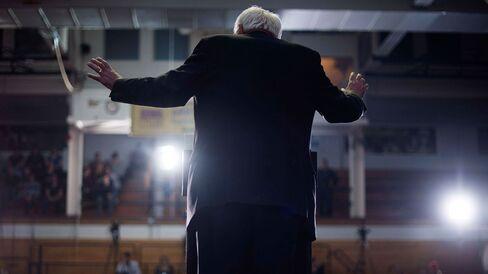 Senator Bernie Sanders speaks in Cedar Falls, Iowa, on Jan. 24, 2016.