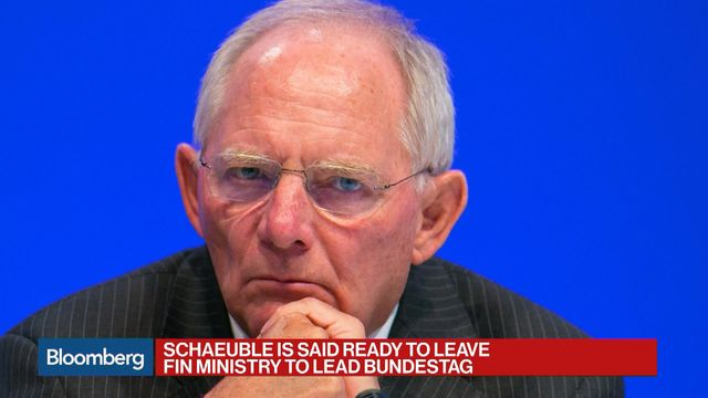 Germany Finance Minister Schaeuble to be Parliament's new speaker