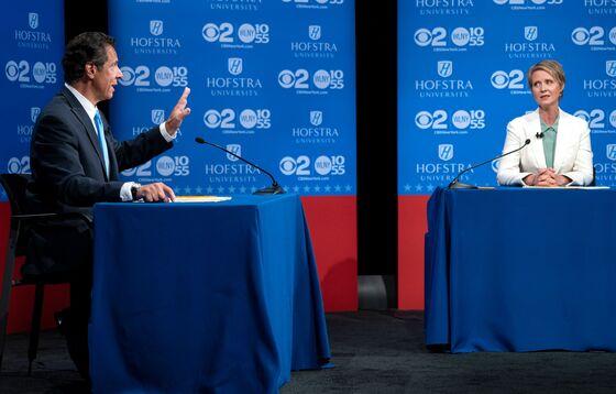 New York's Cuomo, Nixon Clash Over Subways in Tense Debate