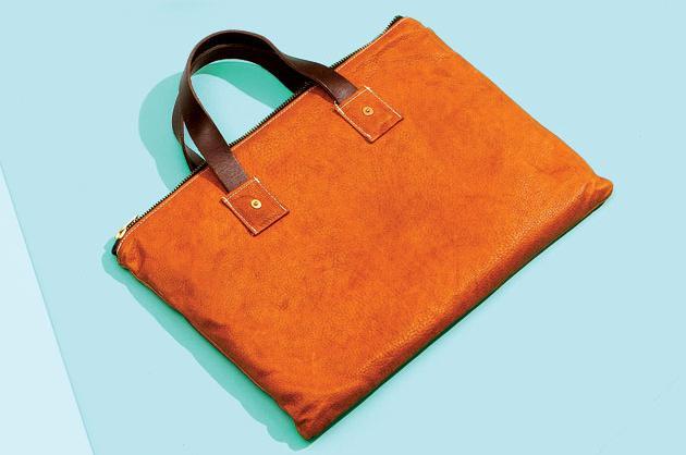 Billy Reid Leather Laptop Sleeve
