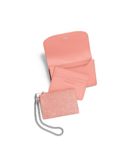 The Michael Kors Juliana Medium 3-In-1 Saffiano Leather Wallet.