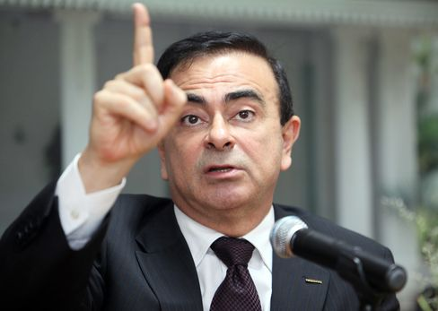 Carlos Ghosn, chief executive officer of Nissan Motor