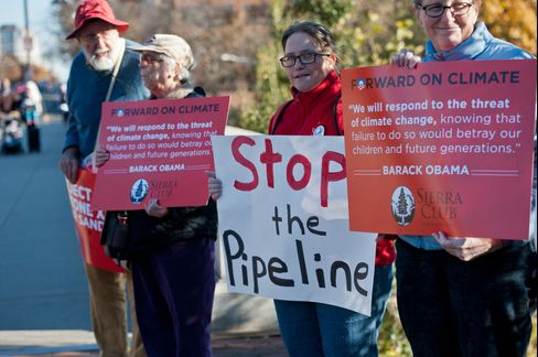 Demonstrators Protest Against the Proposed Keystone XL Pipeline