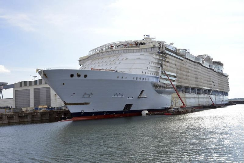 Symphony Of The Seas Royal Caribbeans Newest Oasis Class Ship Under Construction At STX Shipyard In France Is Scheduled To Be Delivered