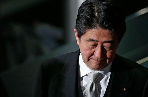 Japan's Prime Minister Shinzo Abe,