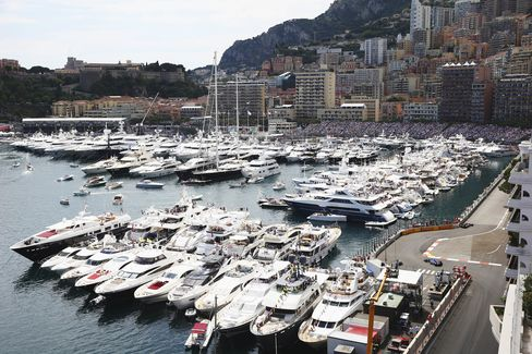 Some of the best views for the Monaco race arefrom the decks of the multimillion-dollar yachts that pull up trackside every year.