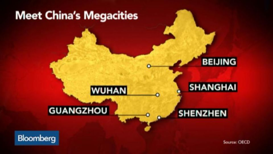 How Many Megacities Does China Have? – Bloomberg