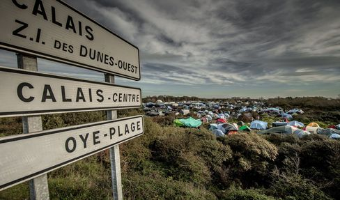 The 'Jungle' migrants camp in Calais.
