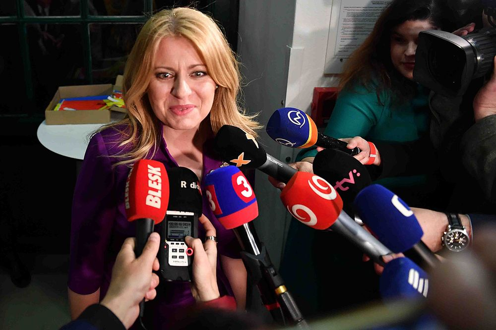 Image result for Slovakia gets first woman president Caputova