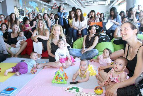 Participants attend Google Inc.'s Campus for Moms Program