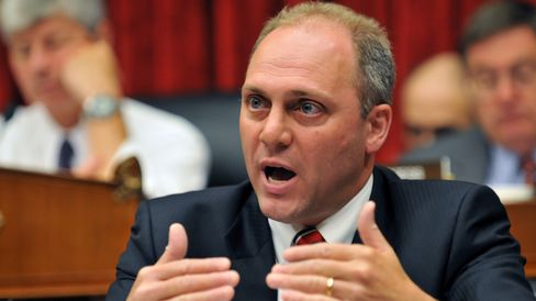 Rep. Steve Scalise (R-LA) questions BP CEO Tony Hayward during a House Oversight and Investigations Subcommittee hearing on 'The Role Of BP In The Deepwater Horizon Explosion And Oil Spill', in the Rayburn House Office Building on Capitol Hill in Washington, DC, June 17, 2010.