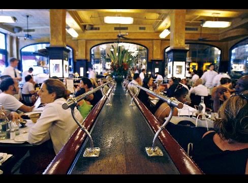 Patrons dine at Balthazar