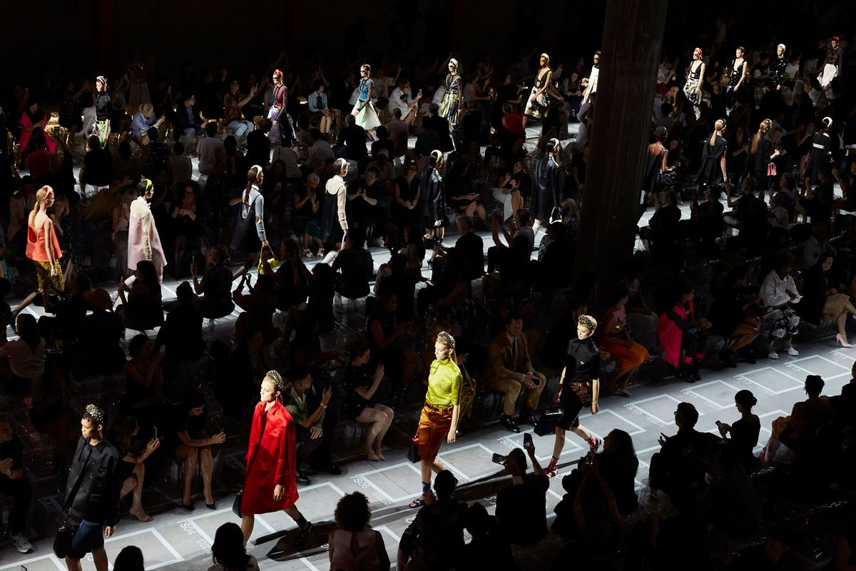 878dc737885c The finale of Prada s spring-summer 2019 show in Milan on Sept. 20.