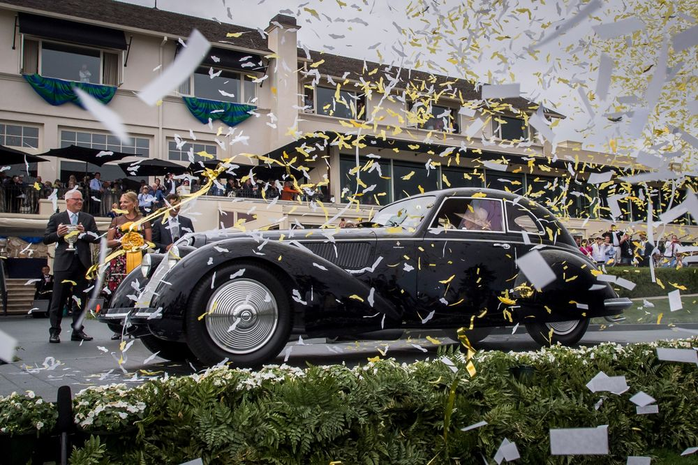 A 1937 Alfa Romeo 8C 2900B Touring Berlinetta, owned by David and Ginny Sydorick, took Best of Show at the 2018 Pebble Beach Concours d'Elegance.