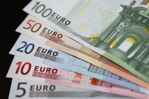 Euro Strengthens as U.S. Futures Advance Before Policy Meetings