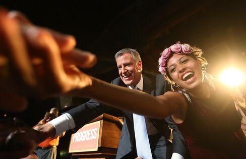 New York Mayor-Elect Bill de Blasio & Daughter Chiara