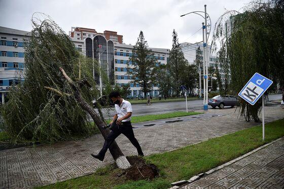 North Korea's Kim Says 'Fortunate' for Minimal Typhoon Damage
