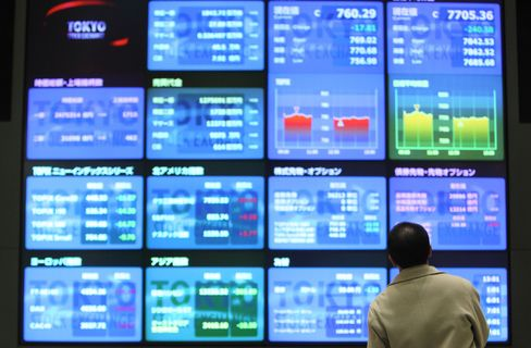 Asian Stocks Rise on Expectations Central Banks Will Ease Policy
