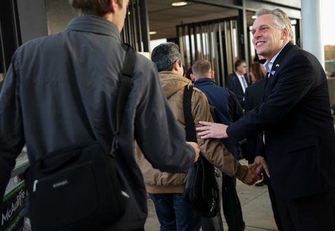 Elected Virgina's Governor Terry McAuliffe