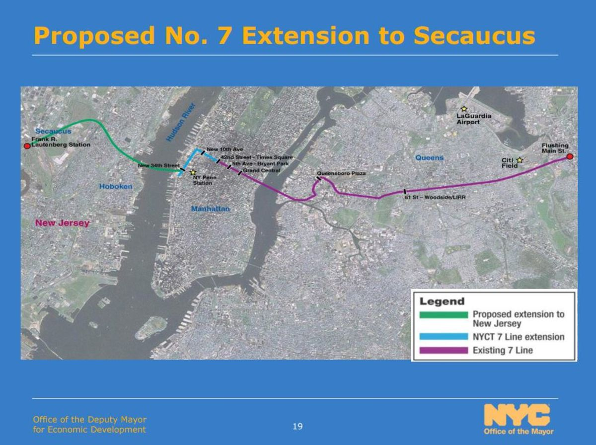 Subway Extension to N J  Could Speed Commute for Thousands