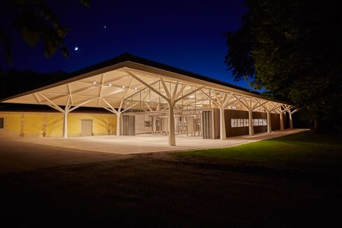 Château Margaux's new cellar at night