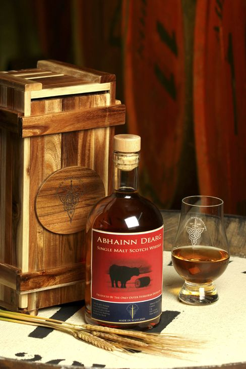 Abhainn Dearg Single-Malt Scotch.