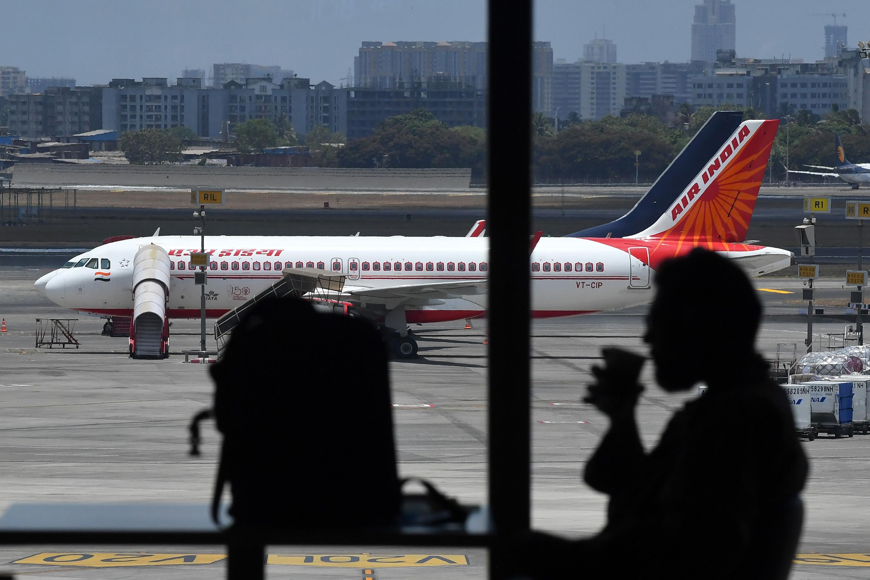 An Air India aircraft sits at Chhatrapati Shivaji Maharaj International Airport, in Mumbai on May 28.