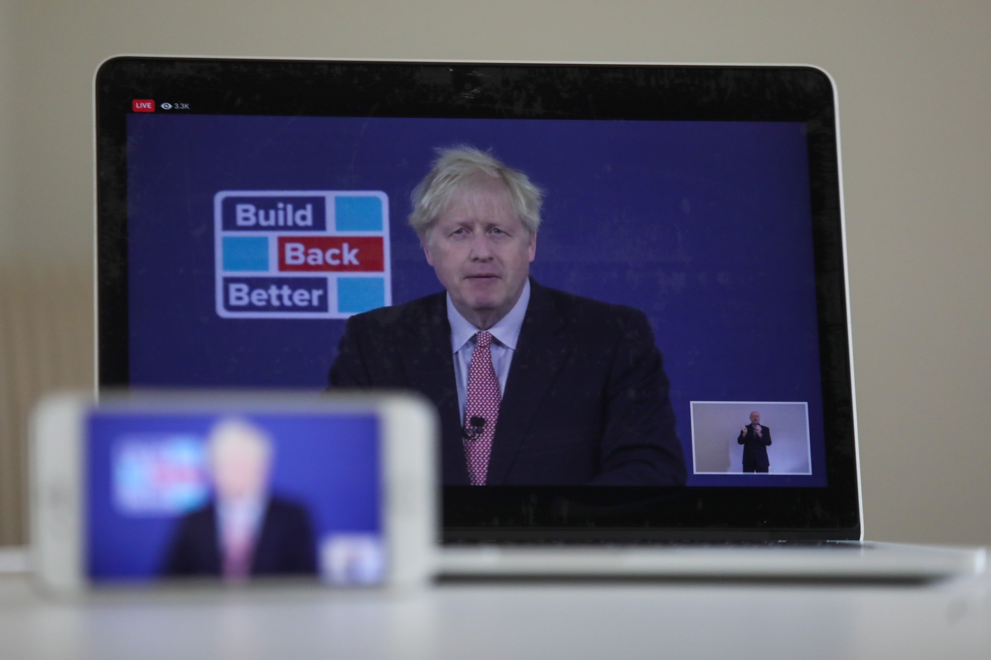 U.K. PM Johnson Delivers Keynote At Conservative Party Virtual Conference
