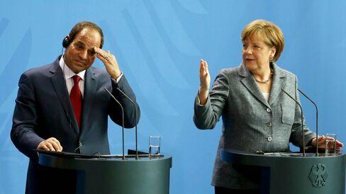 El-Sisi & Merkel