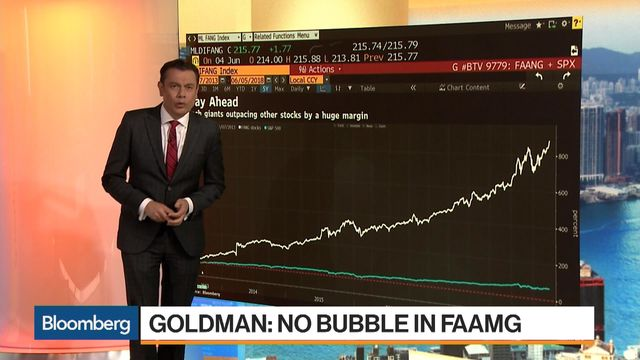 Goldman Sachs Doesn't Think There's a Bubble in Tech Stocks