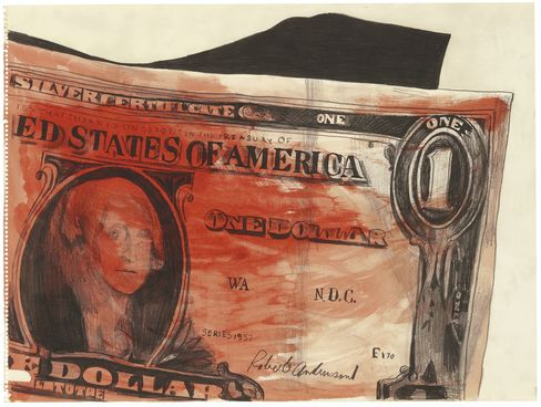 One Dollar, 1961, by Andy Warhol