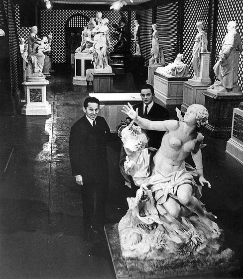 Daniel, left, and Alec at the New York Gallery in 1965