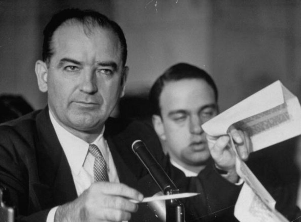 Near the end: Senator Joseph McCarthy with Roy Cohn in 1954.